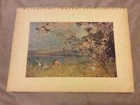 Antique Book Print - An Idyll of Spring - East - 1910