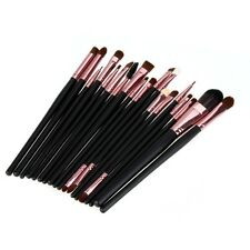 Pro Makeup Set Powder Foundation Eyeshadow Eyeliner Lip Cosmetic Brushes 20 Pcs