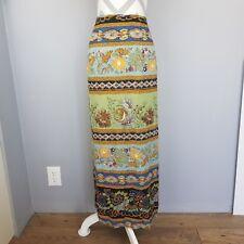 Carole Little Maxi Skirt 10 Floral A Line Pencil Side Slit Peasant Boho Hippie