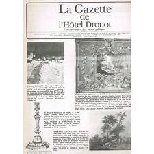 La GAZETTE de l'Hôtel DROUOT 1983 N°9 Souvenir de CHASSE FUJITA PICASSO CÉZANNE