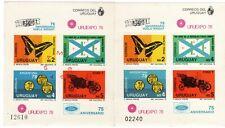 "Uruguay stamps ""Uruexpo1978"" sheet + sample 1978"