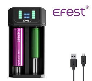 New Efest MEGA USB Li-ion LED Battery Charger