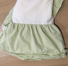 New ListingPottery Barn Kids Green with White Gingham Dust Ruffle Baby Crib Skirt