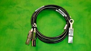 EMC 038-003-787 REV A12 MINI SAS TO MINI SAS AMPENOL 2M CABLE    LOT OF 2    @8