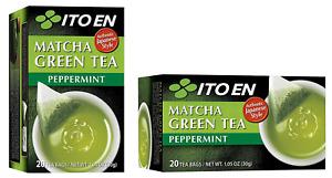 Two Boxes of Ito En Matcha Peppermint Green Tea  20 Tea bag each (40 tea bags)