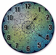 "10.5"" MANDALA DESIGN ABSTRACT DECORATIVE - Large 10.5"" Wall Clock - 3327"