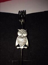 "OWL DR6 Scarf , Brooch and Kilt Pin Pewter 3""  7.5 cm"