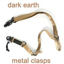 2 Point Sling Metal Clasps (Dark Earth) Quick Release for Magpul Sling Adapters