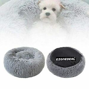 Ezonedeal Calming Bed for Dogs, Donut Cuddler Dog Bed Small Medium Large Orthope