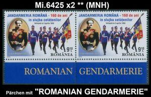 Rumänien 2010 Gendarmerie,Polizisten,Flagge,Ghica,Uniformen,Fürst Mi.6425 x2 **