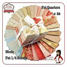 Autumn Lily Moda Fat Quarter 1/4 quilt fabric quarters vintage French shabbychic