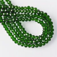 500pcs 4x3mm Deep Green Rondelle Crystal Glass Faceted Loose Spacer Beads Lot