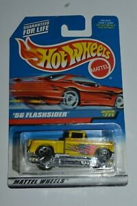 1997 Hot Wheels '56 FLASHSIDER Chevy Truck Yellow Color MIC #771 Sealed 1:64
