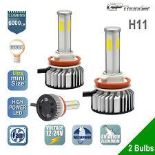 2x 4-Sides LED Headlight Kit H11 6000K Low High Beam Fog Light Bulb 6000K White