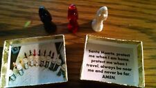 "SANTA MUERTE ""SPIRIT BOX"" portable altar: 3 mini statues, etc. MUST SEE!!"