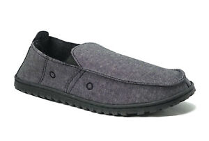 Men's Canvas Loafer House Shoe Moccasins Heavy Duty Rubber Bottom--3030M