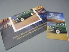 BROCHURE ONLY(NO CAR)-1/24-FRANKLIN MINT-1946 CHEVROLET CHEVY SUBURBAN