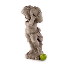 Gartenfigur Dekofigur Steinfigur 60cm 21kg Kind Putto Steinguss Statue Garten