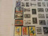 Lot of 8 Ghana Stamps, Dove, fish, Dam, Birds, Flowers, The Ghana Mace