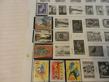 Lot of 8 Ghana Stamps, Dove, fish, Dam, Birds, Flowers, The Ghana Mace