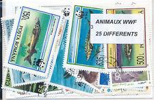 ZAJ - ANIMAUX WWF : 25 TIMBRES DIFF. OBLI. Ts PAYS