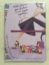 BONNIE MARCUS COLLECTION 'Shoes' Tri-Fold Sticky Notes Writing Pad + Pocket NEW