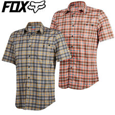Fox Rivet Checkered Cycling Jersey Shirt - Plaid Rust, Black - S M L XL