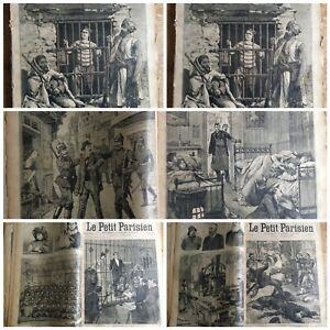 RECUEIL JOURNAL LITTÉRAIRE ILLUSTRÉ LE PETIT PARISIEN ANNÉES 1897/98 N° 458/513