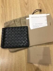 BOTTEGA VENETA Black Money Clip Wallet Very Good Leather