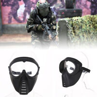 Protective Airsoft Paintball CS Game Tactical Full Face Safety Mask Clear