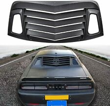 Matte Black Rear Window Louvers Sun Shade Cover for 2008-2020 Dodge Challenger