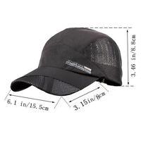 Berretto da baseball da uomo estivo nero con chiusura a secco e cappello estivo
