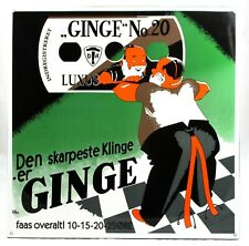 XL GINGE No.20 Luxus  - 58,5x58,5 cm - Emailschild - Emaille Schild enamel sign