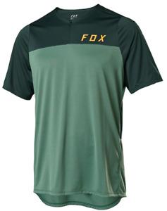 FOX RACING MENS MOSS GREEN FLEXAIR SHORT ZIP MTB CYCLING JERSEY sizes S M L