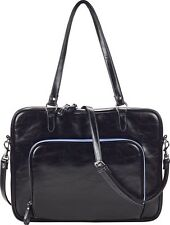 "Studio C Fashionista Laptop Tote for most 15"" Laptops - Black/Light Blue - 96889"