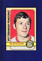 Jim Rutherford RC 1972-73 O-PEE-CHEE OPC Hockey #15 (VG+) Pittsburgh Penguins