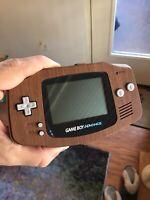 Wood Grain Gameboy Advance GBA Refurbished Nintendo Glass Lens Herbie Cartridge