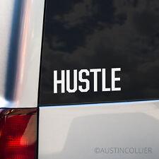 HUSTLE Vinyl Decal Car Truck Laptop Sticker - Motivational Inspirational Phrase