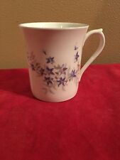 ROYAL MINSTER FINE BONE CHINA TEA CUP WITH LAVENDER FLOWERS