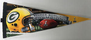Green Bay Packers Pennant SUPER BOWL CHAMPS XLV Football Wincraft MADE IN USA