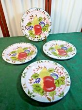NWT-4 Beautiful Heritage Mint Black Forest Fruits Decorative Dinner Plates