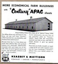 1953 Print Ad Century APAC Sheets Asbestos Farm Keasbey & Mattison Ambler,PA