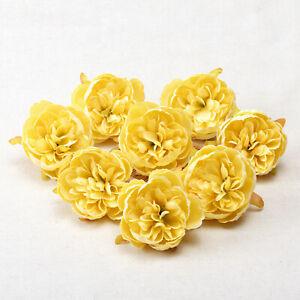 "5/100Pcs Peony Artificial Flower Heads 2.36"" Fake Flowers DIY Wreath Decoration"
