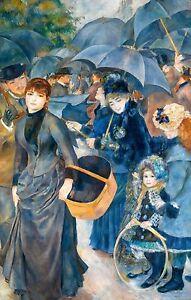 Renoir 1882, The Umbrellas, Fade Resistant HD Art Print or Canvas