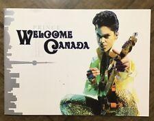 Prince  Welcome 2 America Canada Program Tour Book Live Tourbook W2A