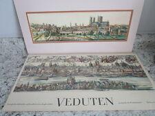 Veduten 1975 calendar pages ink drawings German cities 1500-1790's Nice art prin