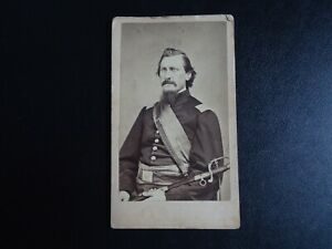 Original Civil War Soldier CDV Photograph with SWORD