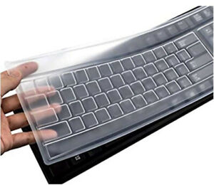 Desktop Keyboard Protective Silicone Skin Protector Cover Clear Film