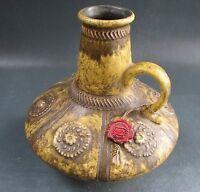 Retro JASBA Keramik Vase Kanne Krug MID CENTURY ethno Siegeldekor Reliefdekor