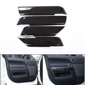 Car Carbon Interior Door Handle Panel Cover Trim For Range Rover Sport 2014-2018